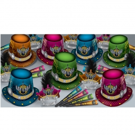 BEISTLE ROCK THE NEW YEAR NEW YEAR'S PARTY FAVOR KIT FOR 50 PEOPLE