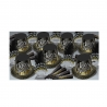 BEISTLE SILVER & GOLD CHEERS TO THE NEW YEAR NEW YEAR'S PARTY FAVOR KIT FOR 50 PEOPLE
