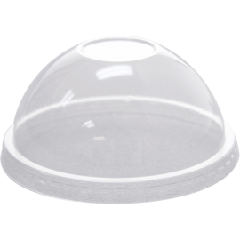 KARAT NO HOLE CLEAR PLASTIC DOME LID, FOR 9 & 12 OZ / 92MM RIM (1000)