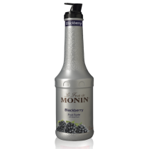 MONIN BLACKBERRY PUREE, PLASTIC LITER BOTTLE - 4 PER CASE
