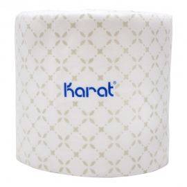 KARAT TOILET TISSUE PAPER, HOUSEHOLD ROLL, 2-PLY - 48 ROLLS PER CASE
