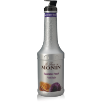 MONIN PASSION FRUIT PUREE, PLASTIC LITER BOTTLE - 4 PER CASE