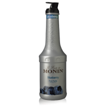 MONIN BLUEBERRY PUREE, PLASTIC LITER BOTTLE - 4 PER CASE