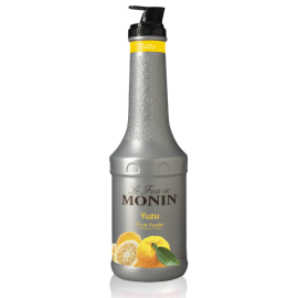 MONIN YUZU PUREE, PLASTIC LITER BOTTLE - 4 PER CASE