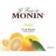 MONIN YUZU PUREE, PLASTIC LITER BOTTLE - 4 PER CASE