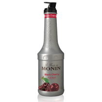 MONIN BLACK CHERRY PUREE, PLASTIC LITER BOTTLE - 4 PER CASE