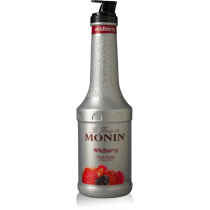 MONIN WILDBERRY PUREE, PLASTIC LITER BOTTLE - 4 PER CASE