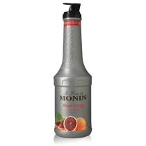 MONIN BLOOD ORANGE PUREE, PLASTIC LITER BOTTLE - 4 PER CASE