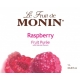 MONIN RASPBERRY PUREE, PLASTIC LITER BOTTLE - 4 PER CASE