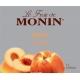 MONIN PEACH PUREE, PLASTIC LITER BOTTLE - 4 PER CASE