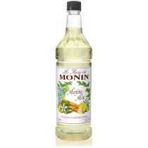 MONIN MOJITO MIX FLAVORED SYRUP, PLASTIC LITER BOTTLE - 4 PER CASE