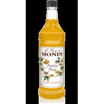 MONIN PASSION FRUIT FLAVORED SYRUP, PLASTIC LITER BOTTLE - 4 PER CASE