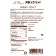 MONIN ALMOND FLAVORED SYRUP, PLASTIC LITER BOTTLE - 4 PER CASE