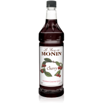 MONIN CHERRY FLAVORED SYRUP, PLASTIC LITER BOTTLE - 4 PER CASE