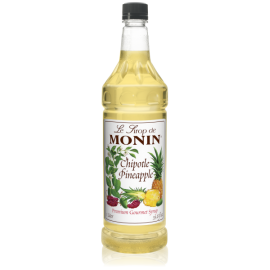 MONIN CHIPOTLE PINEAPPLE FLAVORED SYRUP, PLASTIC LITER BOTTLE - 4 PER CASE