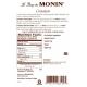 MONIN CINNAMON FLAVORED SYRUP, PLASTIC LITER BOTTLE - 4 PER CASE