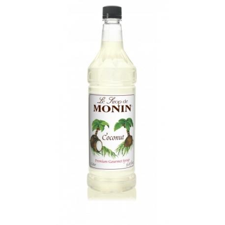 MONIN COCONUT FLAVORED SYRUP, PLASTIC LITER BOTTLE - 4 PER CASE