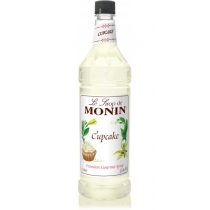 MONIN CUPCAKE FLAVORED SYRUP, PLASTIC LITER BOTTLE - 4 PER CASE