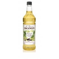 MONIN FRENCH VANILLA FLAVORED SYRUP, PLASTIC LITER BOTTLE - 4 PER CASE