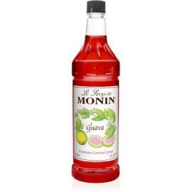 MONIN GUAVA FLAVORED SYRUP, PLASTIC LITER BOTTLE - 4 PER CASE