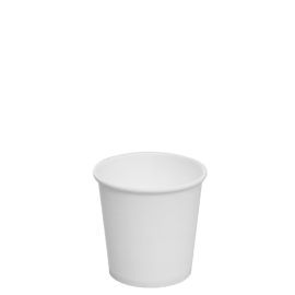 KARAT 4 OZ  WHITE PAPER HOT CUP (1000/CS)