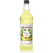 MONIN HABANERO LIME FLAVORED SYRUP, PLASTIC LITER BOTTLE - 4 PER CASE