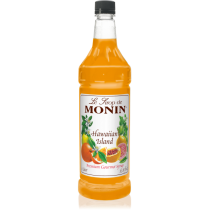 MONIN HAWAIIN ISLAND FLAVORED SYRUP, PLASTIC LITER BOTTLE - 4 PER CASE
