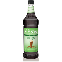 MONIN ICED COFFEE CONCENTRATE, PLASTIC LITER BOTTLE - 4 PER CASE