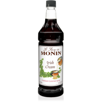MONIN IRISH CREAM FLAVORED SYRUP, PLASTIC LITER BOTTLE - 4 PER CASE