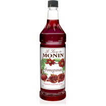 MONIN POMEGRANATE FLAVORED SYRUP, PLASTIC LITER BOTTLE - 4 PER CASE