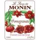 MONIN POMEGRANATE FLAVORED SYRUP, PLASTIC LITER BOTTLE - 4 PER CASE