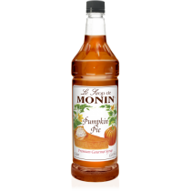 MONIN PUMPKIN PIE FLAVORED SYRUP, PLASTIC LITER BOTTLE - 4 PER CASE