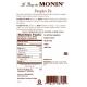 MONIN PUMPKIN PIE FLAVORED SYRUP, PLASTIC LITER BOTTLE - 4 PER CASE