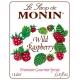MONIN WILD RASPBERRY FLAVORED SYRUP, PLASTIC LITER BOTTLE - 4 PER CASE