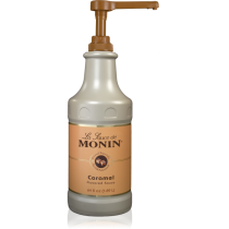 MONIN CARAMEL GOURMET SAUCE, 64 OZ BOTTLE - SOLD PER CASE OF 4 BOTTLES
