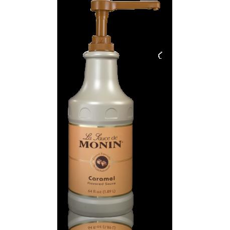 MONIN CARAMEL GOURMET SAUCE, 64 OZ BOTTLE - SOLD PER CASE OF 4 BOTTLES
