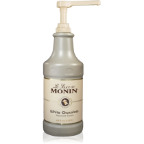 MONIN WHITE CHOCOLATE GOURMET SAUCE, 64 OZ BOTTLE - SOLD PER CASE OF 4 BOTTLES