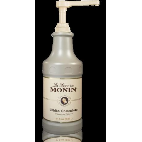 MONIN WHITE CHOCOLATE GOURMET SAUCE, 64 OZ BOTTLE - SOLD PER CASE OF 4 BOTTLES