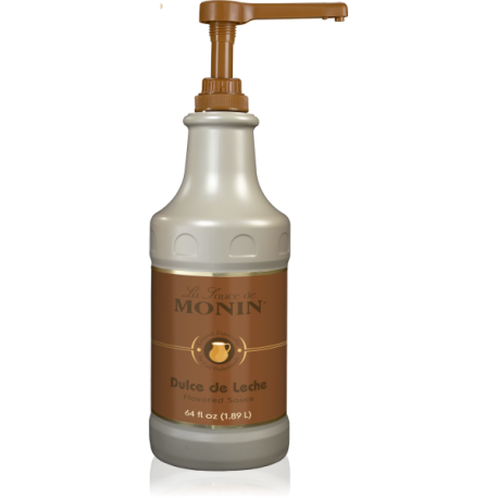 MONIN DULCE DE LECHE GOURMET SAUCE, 64 OZ BOTTLE - SOLD PER CASE OF 4 BOTTLES
