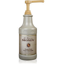 MONIN SUGAR FREE DARK CHOCOLATE GOURMET SAUCE, 64 OZ BOTTLE - SOLD PER CASE OF 4 BOTTLES
