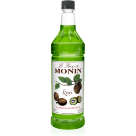 MONIN KIWI FLAVORED SYRUP, PLASTIC LITER BOTTLE - 4 PER CASE