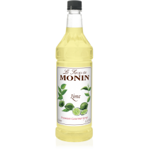 MONIN LIME FLAVORED SYRUP, PLASTIC LITER BOTTLE - 4 PER CASE