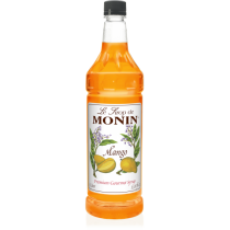 MONIN MANGO FLAVORED SYRUP, PLASTIC LITER BOTTLE - 4 PER CASE