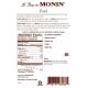 MONIN PEACH FLAVORED SYRUP, PLASTIC LITER BOTTLE - 4 PER CASE