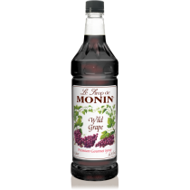 MONIN WILD GRAPE FLAVORED SYRUP, PLASTIC LITER BOTTLE - 4 PER CASE