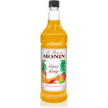 MONIN HONEY MANGO FLAVORED SYRUP, PLASTIC LITER BOTTLE - 4 PER CASE