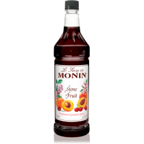 MONIN STONE FRUIT FLAVORED SYRUP, PLASTIC LITER BOTTLE - 4 PER CASE
