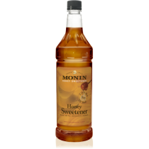 MONIN HONEY SWEETENER SYRUP, PLASTIC LITER BOTTLE - 4 PER CASE