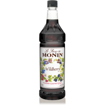 MONIN WILDBERRY FLAVORED SYRUP, PLASTIC LITER BOTTLE - 4 PER CASE