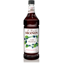 MONIN WILD BLACKBERRY FLAVORED SYRUP, PLASTIC LITER BOTTLE - 4 PER CASE